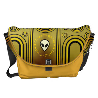 Yellow Industrial Cyber Punk Futuristic Commuter Bags