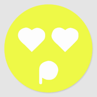 Yellow Infatuated Emoticon Sticker