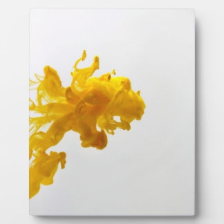 Yellow Ink Drop Photography 8x10 with Easle Display Plaque