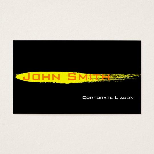 Yellow Ink Spot Standard Business Cards