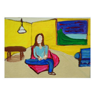 yellow interior poster
