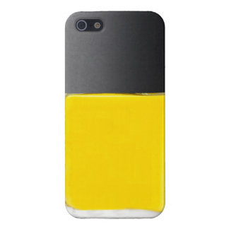 Yellow Iphone 5S Nail Polish Phone Case Cover For iPhone 5/5S
