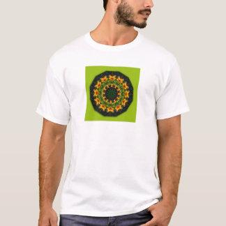 Yellow Iris, Floral mandala-style T-Shirt