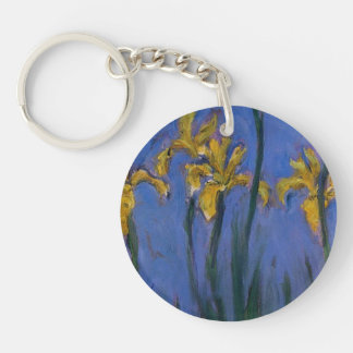 Yellow Irises Double-Sided Round Acrylic Key Ring