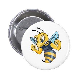 YELLOW JACKET HORNET 6 CM ROUND BADGE