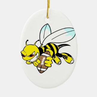 Yellow Jacket Hornet Christmas Ornament
