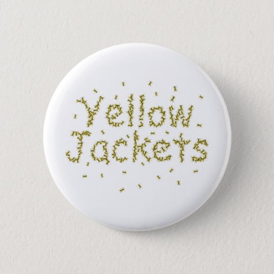 Yellow Jackets 6 Cm Round Badge