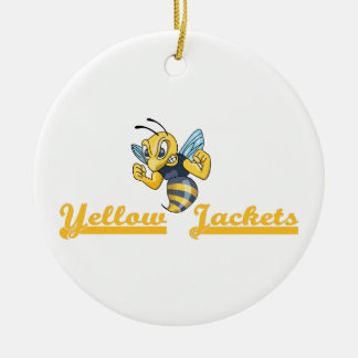 YELLOW JACKETS CHRISTMAS ORNAMENT