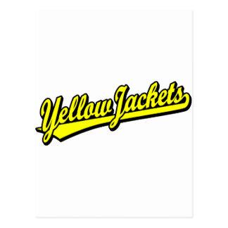Yellow Jackets script logo in yellow Postcard