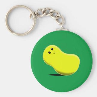 Yellow Jellybean Keychain