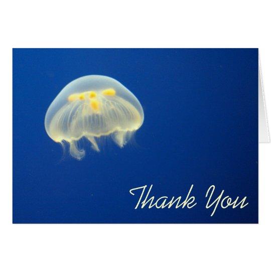 Yellow Jellyfish Thank You Card