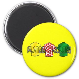 Yellow Jersey Green Jersey King of the mountains 6 Cm Round Magnet