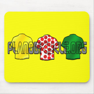 Yellow Jersey Green Jersey King of the mountains Mouse Pad