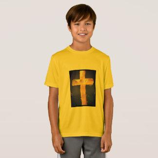 Yellow Jesus Loves Me Sporty Tee