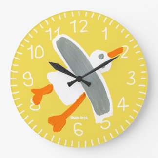 Yellow John Dyer Seagull wall clock