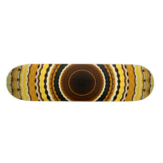 Yellow kaleidoscope custom skateboard