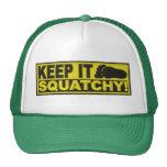 """Yellow KEEP IT SQUATCHY!  """"embroidered-look"""" print"""