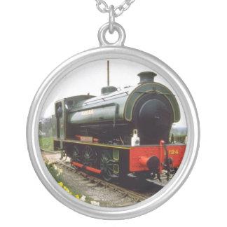 yellow Kent & East Sussex Railway, Tenterden, Kent Custom Necklace