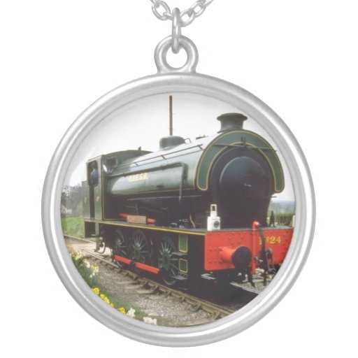yellow Kent & East Sussex Railway, Tenterden, Kent Custom Necklace