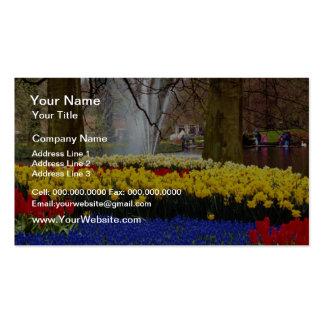 yellow Keukenhof gardens, Amsterdam, Netherlands f Pack Of Standard Business Cards