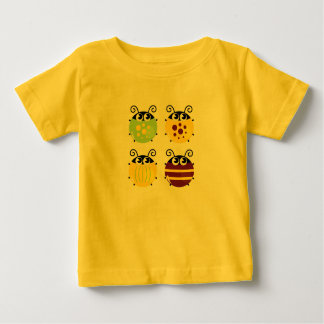 Yellow kids t-shirt with bugs