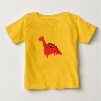 Yellow kids t-shirt with Little cute Dino