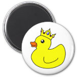 Yellow King Rubber Duck Magnet