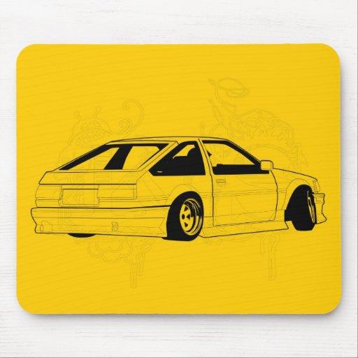 Yellow KIS Levin AE86 Mousepads