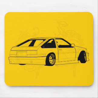 Yellow KIS Levin AE86 Mousepads