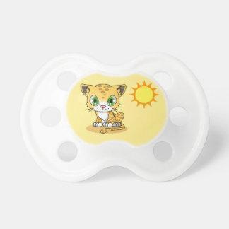 Yellow Kitten Baby Pacifier