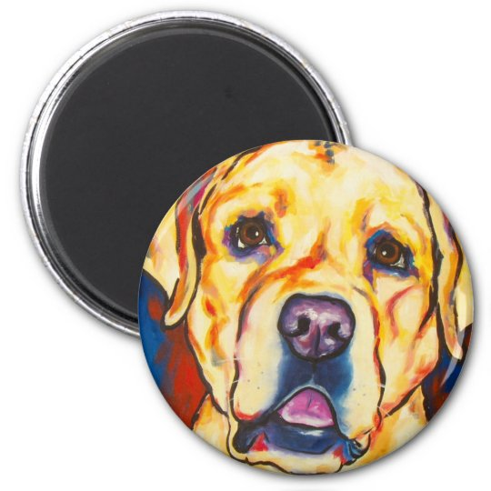 Yellow Lab 2 Magnet