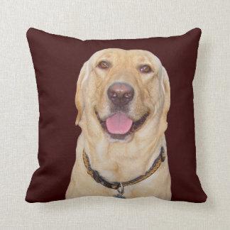 Yellow Lab American MoJo Pillow Throw Cushion