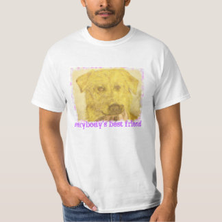 yellow lab art(everybody's best friend) T-Shirt