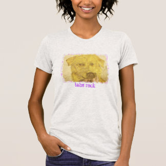 yellow lab art (labs rock) shirt