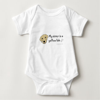 yellow lab baby bodysuit