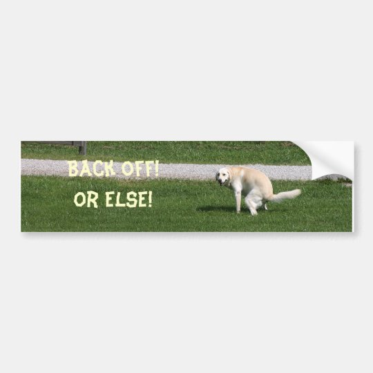 Yellow lab back off bumper sticker