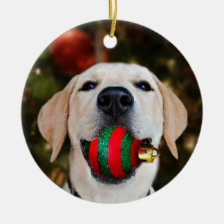 Yellow lab Christmas ball Christmas Ornament