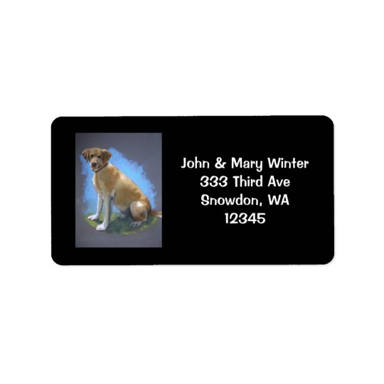 YELLOW LAB, DOG: ADDRESS LABELS: ORIGINAL ART LABEL