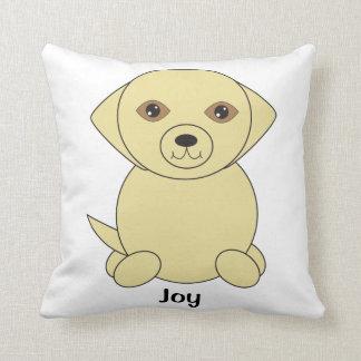 Yellow Lab Dog Cute Personalise Cushion