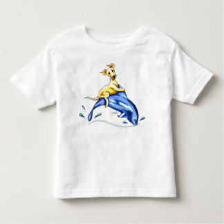 Yellow Lab Dolphin Ride T-shirt