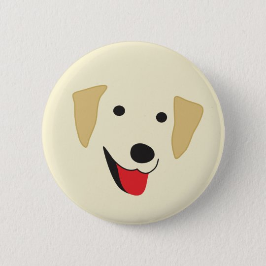 Yellow Lab Face 6 Cm Round Badge