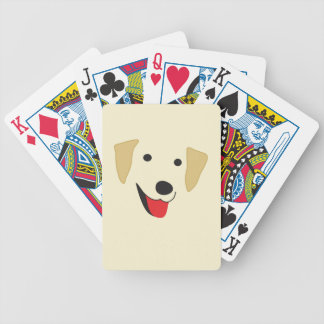 Yellow Lab Face Bicycle Playing Cards