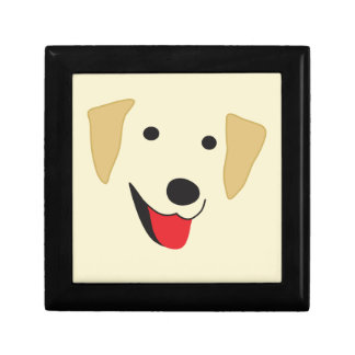 Yellow Lab Face Small Square Gift Box