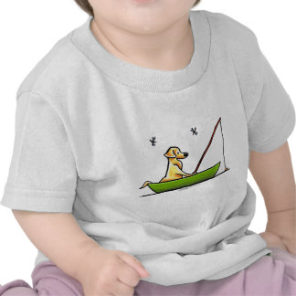 Yellow Lab Fishing T Shirt