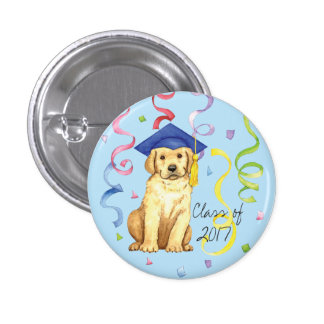 Yellow Lab Graduate 3 Cm Round Badge