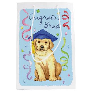 Yellow Lab Graduate Medium Gift Bag