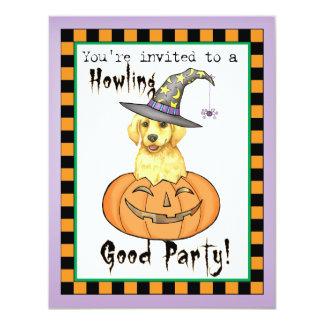 Yellow Lab Halloween 11 Cm X 14 Cm Invitation Card