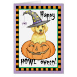 Yellow Lab Halloween Greeting Card