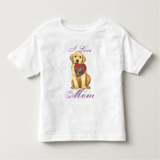 Yellow Lab Heart Mom Shirt