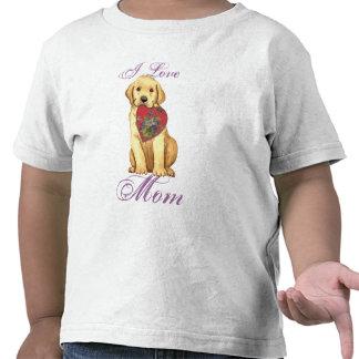 Yellow Lab Heart Mom Tee Shirt